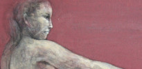 横を向く裸婦